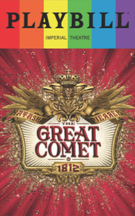 Natasha, Pierre and the Great Comet of 1812 - June 2017 Playbill with Rainbow Pride Logo