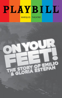 On Your Feet - June 2017 Playbill with Rainbow Pride Logo