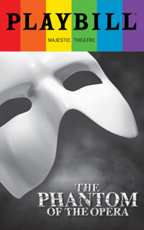 The Phantom of the Opera - June 2017 Playbill with Rainbow Pride Logo
