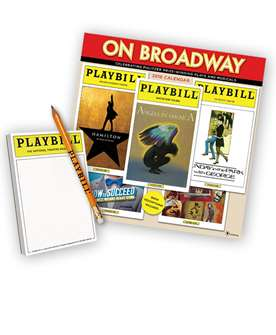 Playbill 2018 Calendar and Playbill Notepad Combo