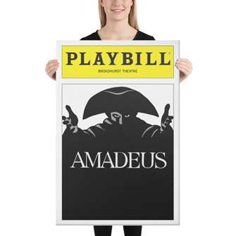 Playbill Amadeus Canvas