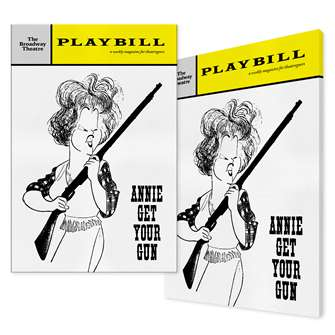Playbill Annie Get Your Gun Canvas