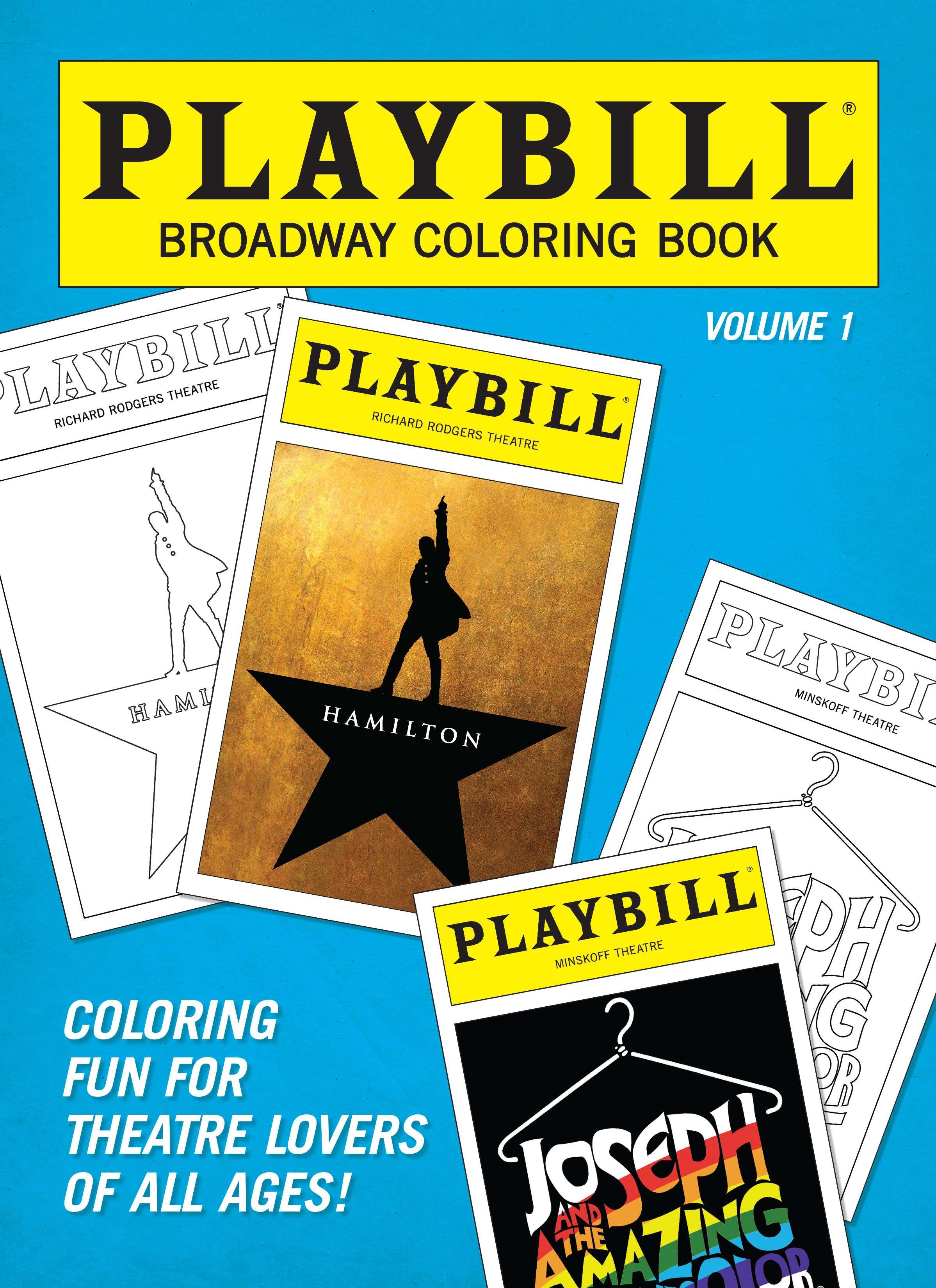 Playbill Broadway Coloring Book V1 - Playbill Merchandise & Souvenirs  PlaybillStore.com
