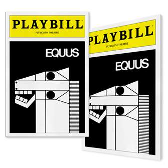 Playbill Equus Canvas