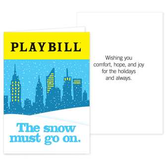 Playbill Holiday Cards