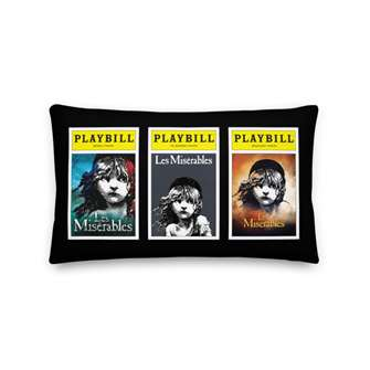 Playbill Les Mis Throw Pillow