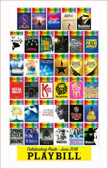 Playbill Pride 2018 Poster