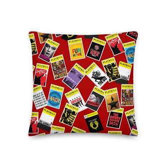 Playbill Red Throw Pillow