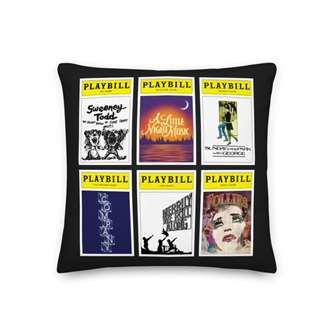 Playbill Sondheim Pillow