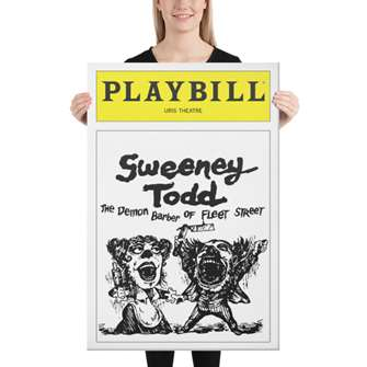 Playbill Sweeney Todd Canvas