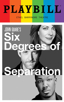 Six Degrees of Separation - June 2017 Playbill with Rainbow Pride Logo