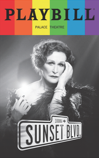 Sunset Boulevard - June 2017 Playbill with Rainbow Pride Logo