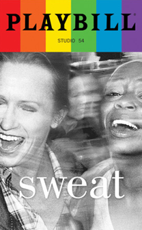 Sweat - June 2017 Playbill with Rainbow Pride Logo