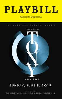 The 2019 Tony Awards Playbill