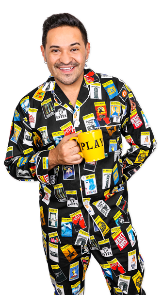 The Black Playbill Pajamas for Men