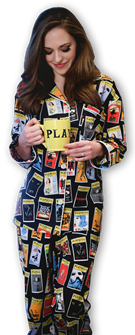 The Black Playbill Pajamas for Women