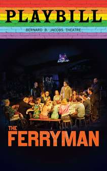The Ferryman - June 2019 Playbill with Rainbow Pride Logo