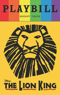 The Lion King - June 2017 Playbill with Rainbow Pride Logo