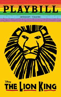 The Lion King - June 2019 Playbill with Rainbow Pride Logo