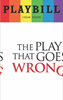 The Play That Goes Wrong - June 2017 Playbill with Rainbow Pride Logo