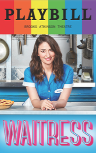 Waitress - June 2017 Playbill with Rainbow Pride Logo