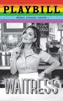 Waitress - June 2019 Playbill with Rainbow Pride Logo