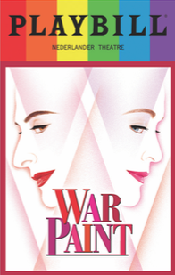 War Paint - June 2017 Playbill with Rainbow Pride Logo