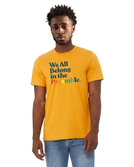 What The Constitution Means To Me Yellow Preamble T-Shirt
