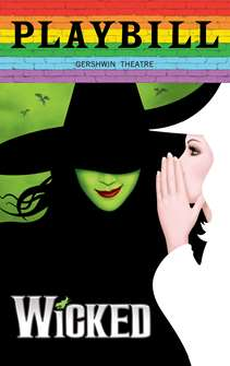 Wicked - June 2019 Playbill with Rainbow Pride Logo