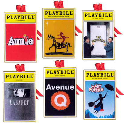 2015 Playbill Ornaments from the Broadway Cares Classic Collection - Set of Six