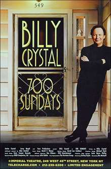 700 Sundays starring Billy Crystal Broadway Poster (2013)