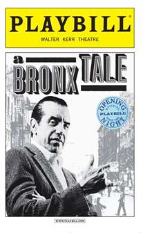 A Bronx Tale Limited Edition Official Opening Night Playbill