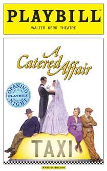 A Catered Affair Limited Edition Official Opening Night Playbill