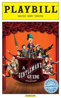 A Gentlemans Guide to Love and Murder Limited Edition Opening Night Playbill