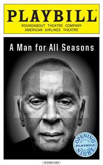 A Man for all Seasons Limited Edition Official Opening Night Playbill