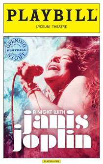 A Night With Janis Joplin Limited Edition Official Opening Night Playbill