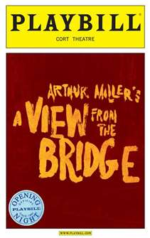A View From the Bridge Limited Edition Official Opening Night Playbill