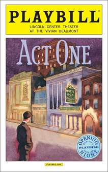 Act One Limited Edition Official Opening Night Playbill
