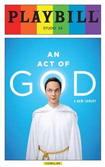 Act of God - June 2015 Playbill with Rainbow Pride Logo