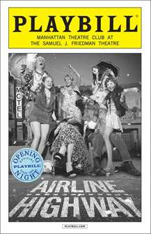 Airline Highway Limited Edition Official Opening Night Playbill