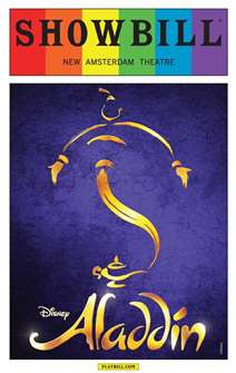 Aladdin the Musical - June 2015 Showbill with Rainbow Pride Logo