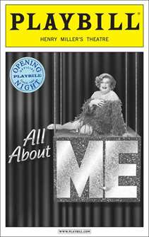 All About Me Limited Editon Official Opening Night Playbll - Dame Edna Cover