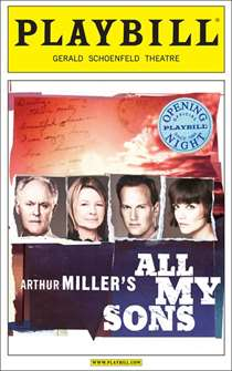 All My Sons Limited Edition Official Opening Night Playbill