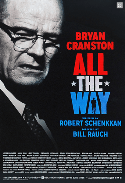 All the Way starring Bryan Cranston Broadway Poster