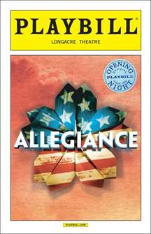 Allegiance Limited Edition Official Opening Night Playbill