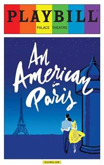 An American in Paris - June 2015 Playbill with Rainbow Pride Logo