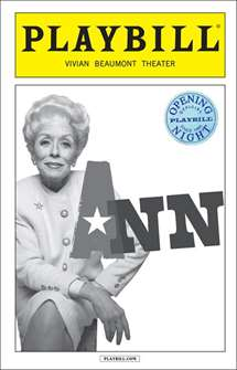 Ann Official Limited Edition Opening Night Playbill