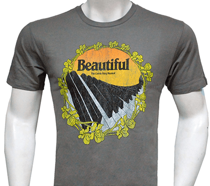 Beautiful The Carole King Broadway Musical - Piano Keys Logo T-Shirt