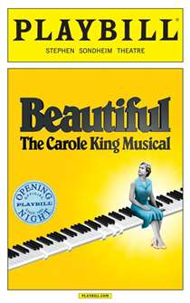 Beautiful The Carole King Musical Limited Edition Official Opening Night Playbill