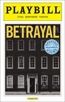 Betrayal Limited Edition Opening Night Playbill